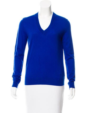 Tory Burch V-Neck Knit Sweater None
