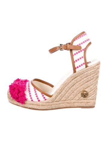 Tory Burch Woven Espadrille Wedges w/ Tags None