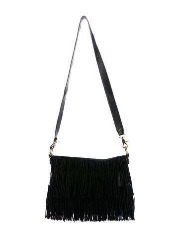 Tory Burch Suede & Leather Fringe Bag None