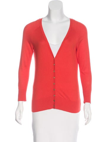 Tory Burch Long Sleeve Button-Up Cardigan None