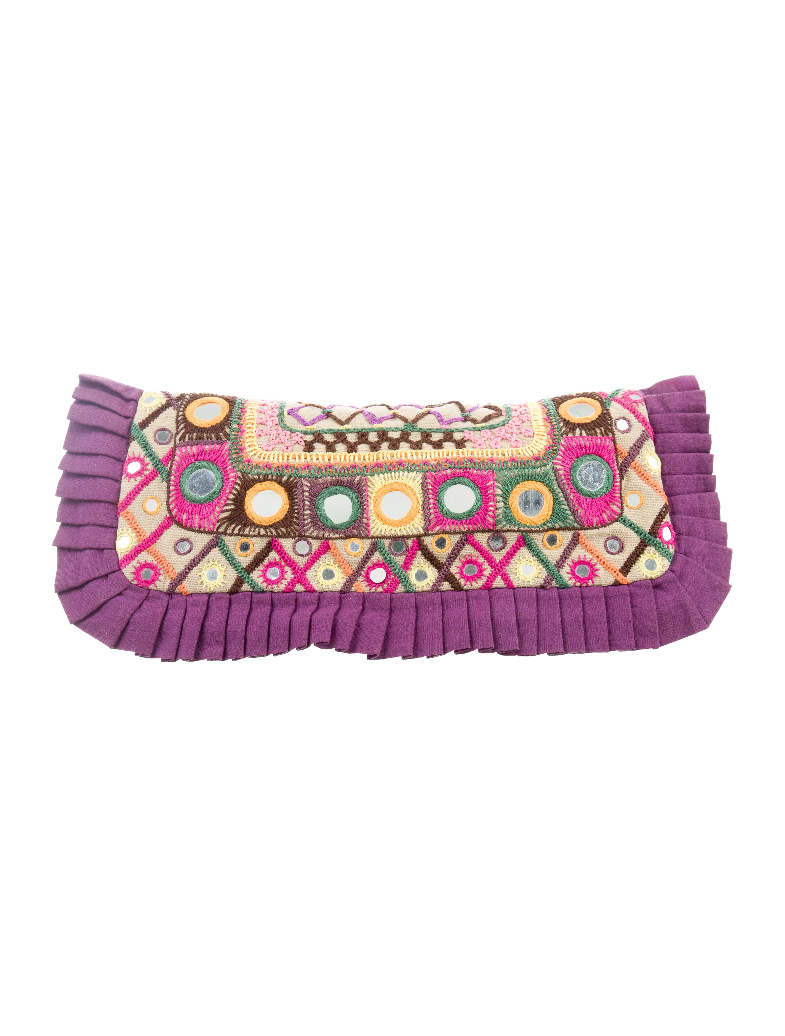 Tory Burch Canvas Embellished Clutch - Handbags - WTO118911 | The RealReal