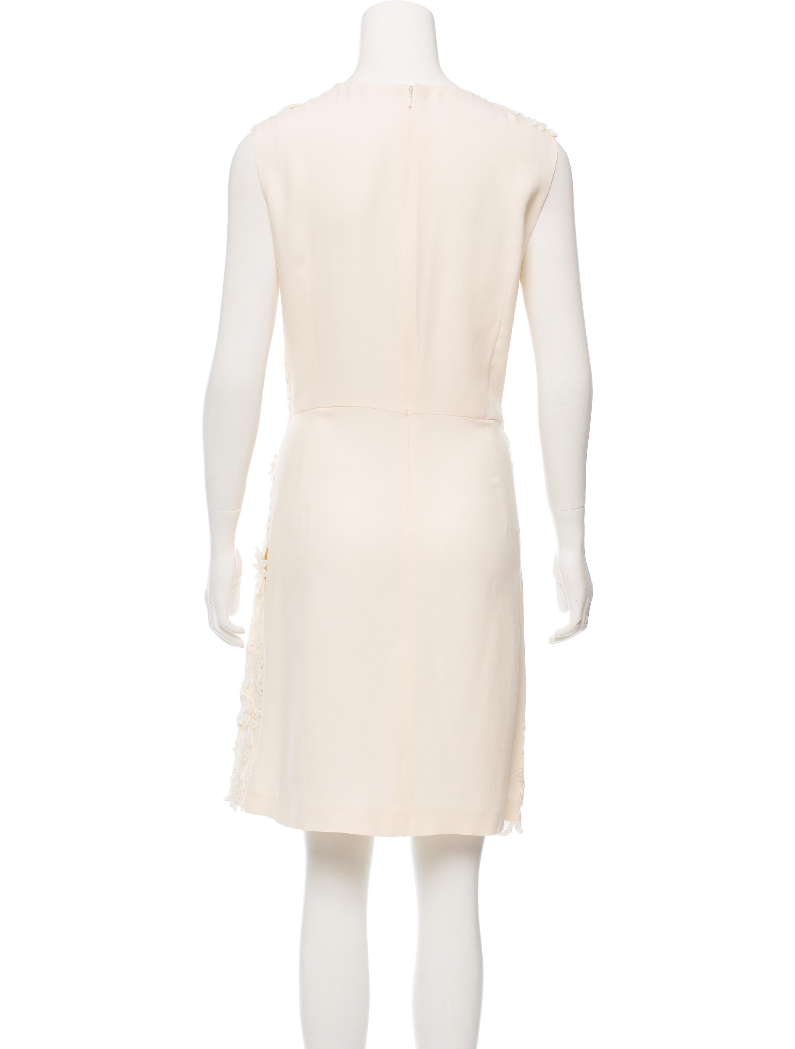 Tory burch floral lace embroidered dress clothing