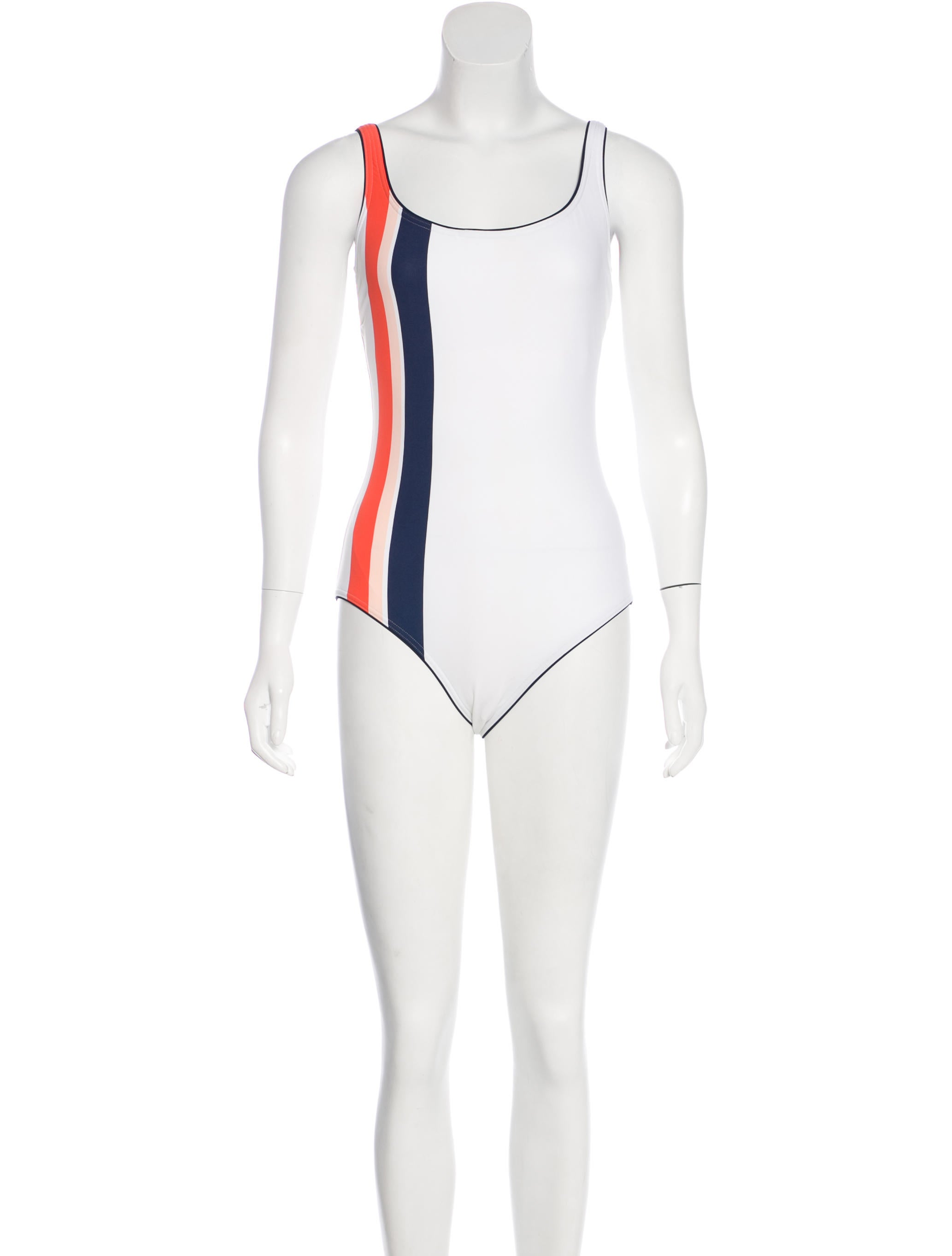 7169be11b01 Tory Burch Striped One-Piece Swimsuit w/ Tags - Clothing - WTO118976 ...