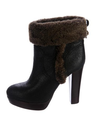 Tory Burch Leather Ankle Boots None