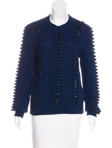 Tory Burch Knit Embellished Sweater None