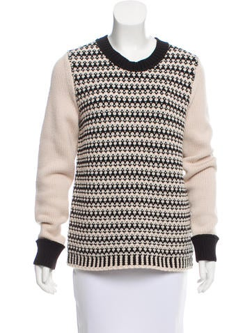 Tory Burch Wool-Blend Textured Knit Sweater None