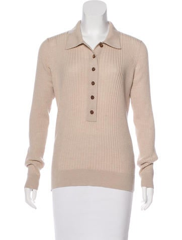 Tory Burch Wool Button-Up Top None
