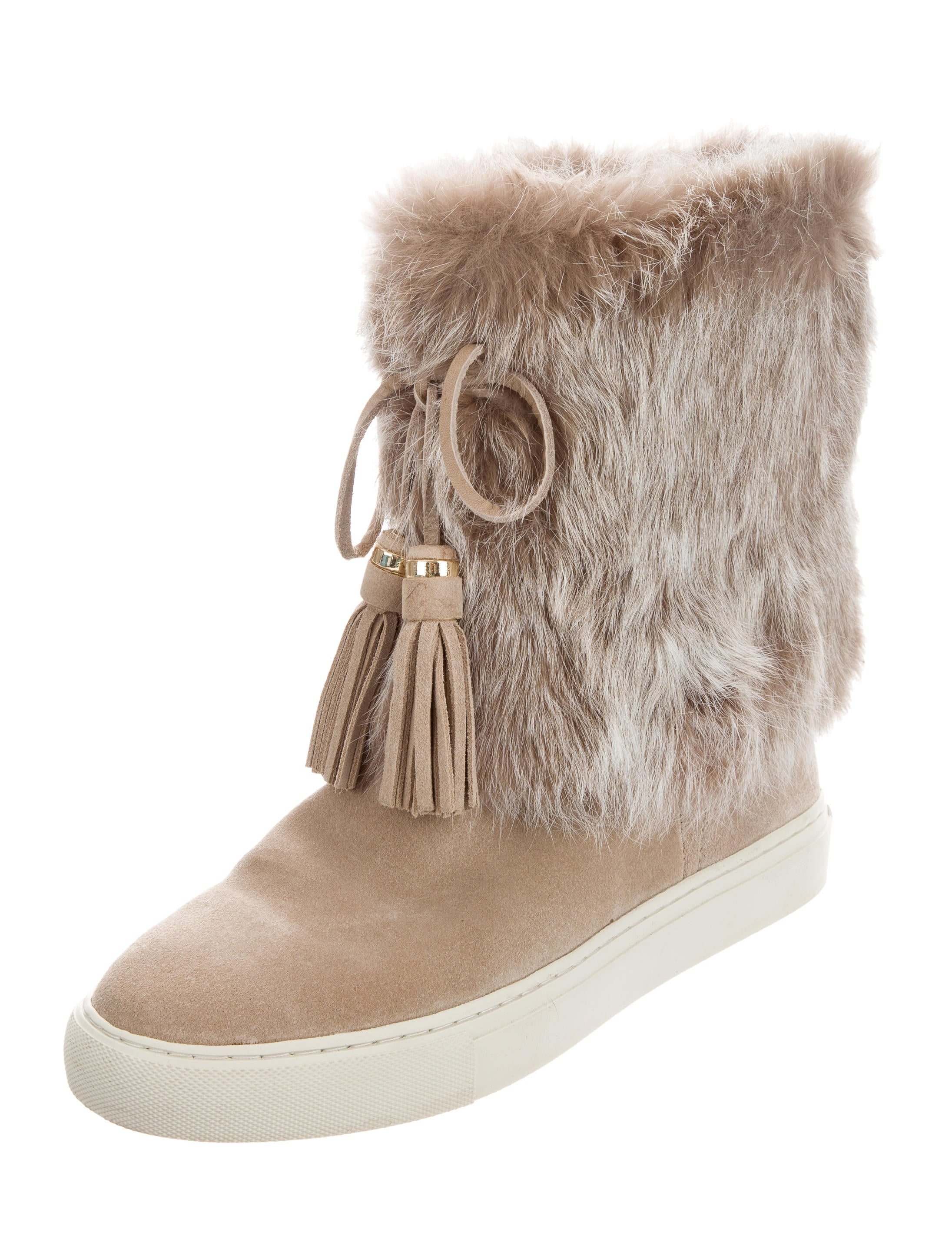 807970913aad Tory Burch Anjelica Fur-Trimmed Boots - Shoes - WTO120760