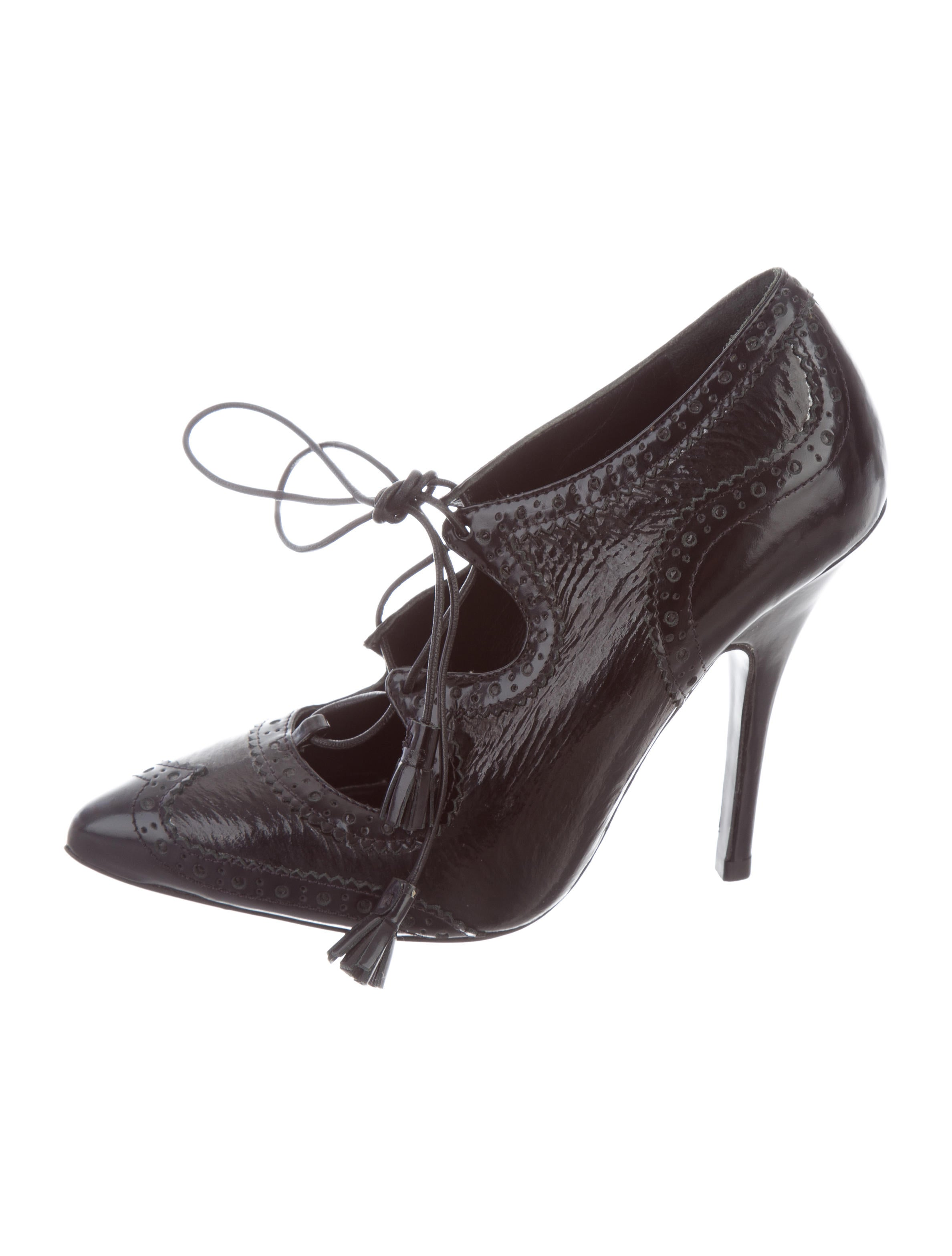 Tory Burch Leather Brogue-Trimmed Pumps buy cheap real xzYJm