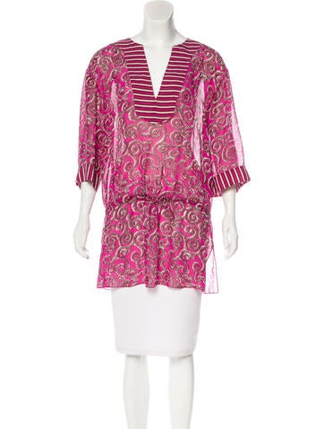 Tory Burch Silk Tunic Top None