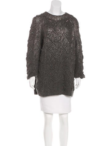 Tory Burch Wool Metallic Sweater None