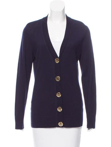 Tory Burch Wool Button-Up Cardigan None