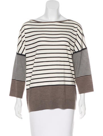 Tory Burch Striped Long Sleeve Top None