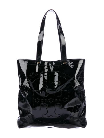 978393fb659 Tory Burch Patent Leather Medium T-Tote - Handbags - WTO122478   The ...