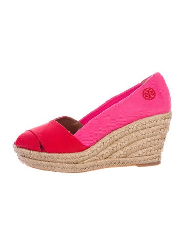 Tory Burch Woven Espadrille Wedges None