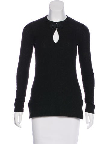 Tory Burch Embellished Crew Neck Sweater None