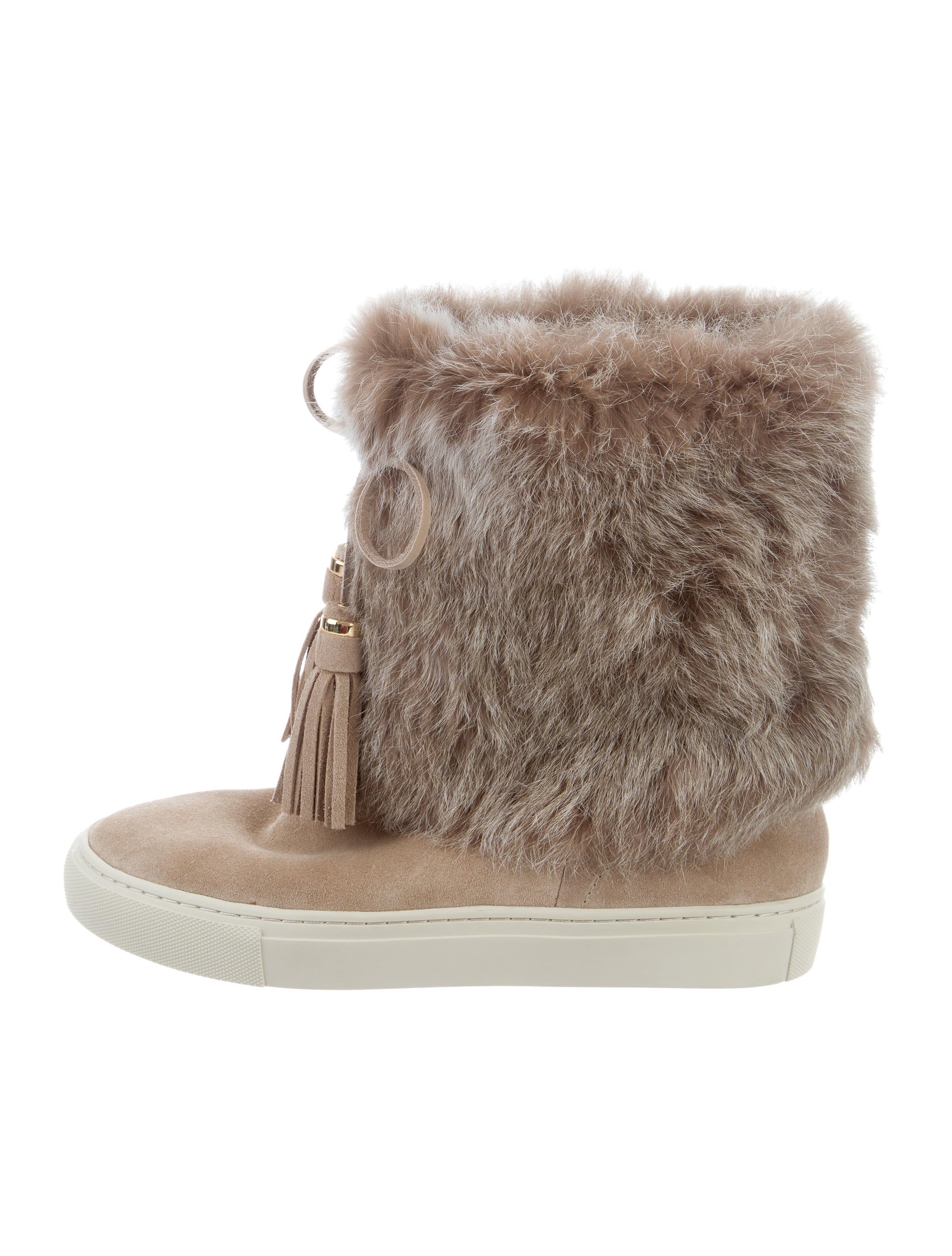 001d6b4f5cc8 Tory Burch Anjelica Fur-Trimmed Sneaker Boots w  Tags - Shoes ...