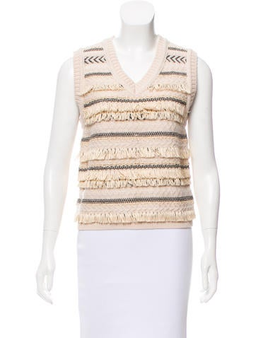 Tory Burch Sleeveless Knit Top None