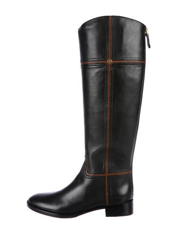Tory Burch Juliet Leather Riding Boots None