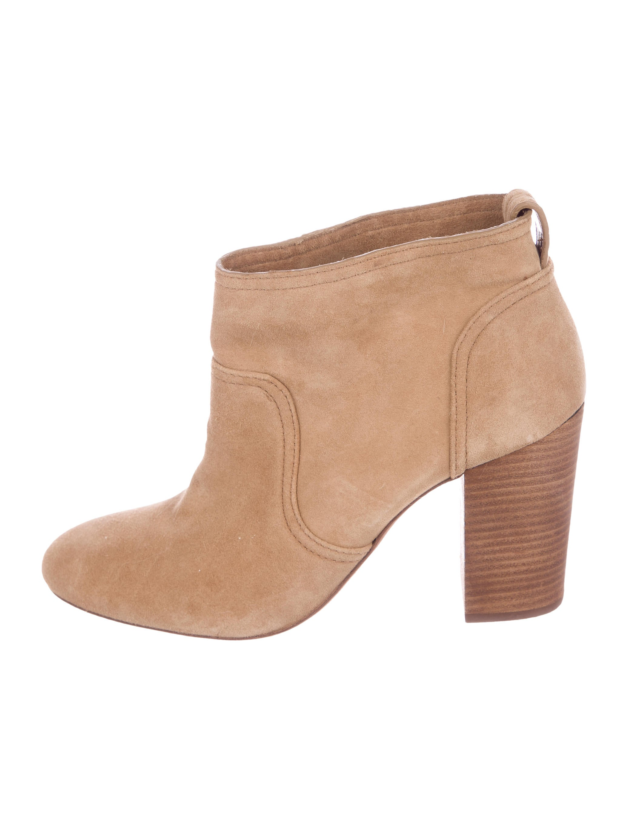 Tory Burch Round-Toe Suede Ankle Boots clearance how much footlocker sale online liPxl5efq
