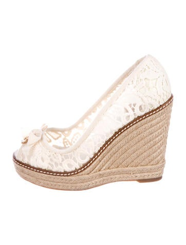 Tory Burch Jackie Espadrille Wedges None