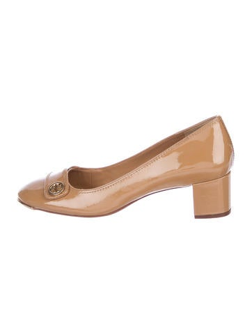 Tory Burch Marion Patent Leather Pumps None