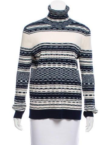 Tory Burch Rib Knit Turtleneck Sweater None