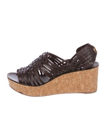 Tory Burch Leather Platform Sandals None
