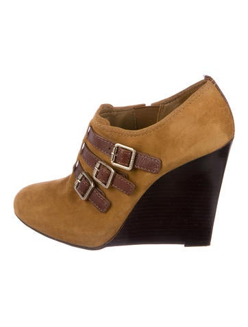 Tory Burch Multistrap Wedge Booties None