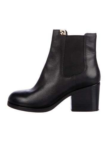 Tory Burch Leather Chelsea Boots None