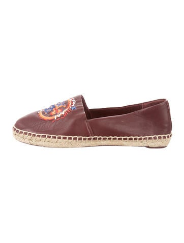 Tory Burch Logo Leather Espadrilles None