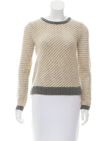 Tory Burch Crew Neck Wool Sweater None