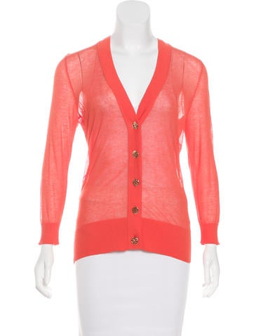 Tory Burch Long Sleeve Button Up Cardigan None