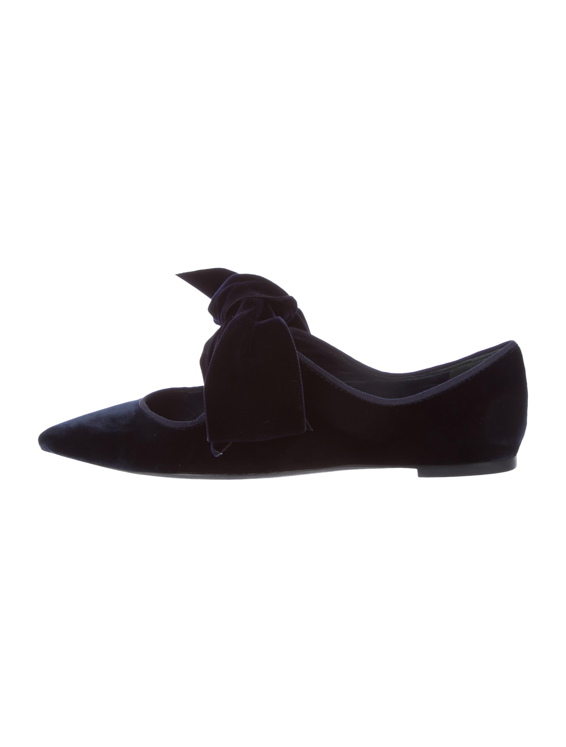 buy cheap pay with visa Tory Burch Clara Velvet Pointed-Toe Flats w/ Tags big sale cheap price pay with visa online IBKzDABMlV