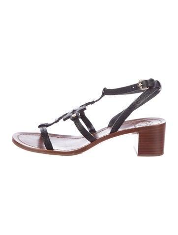 Logo Leather Sandals