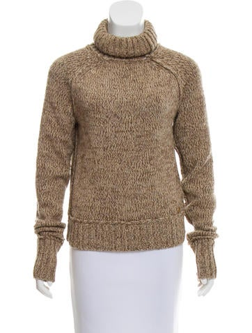 Tory Burch Ribbed Knit Turtleneck None