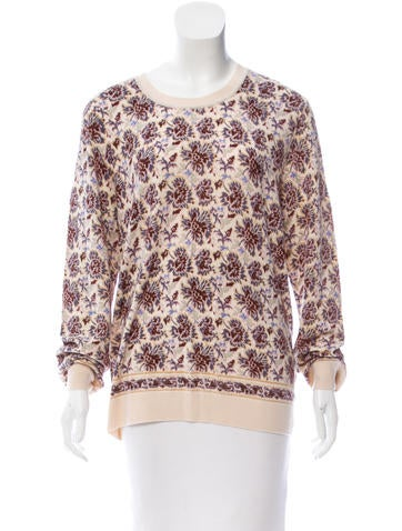 Tory Burch Floral Wool Sweater None