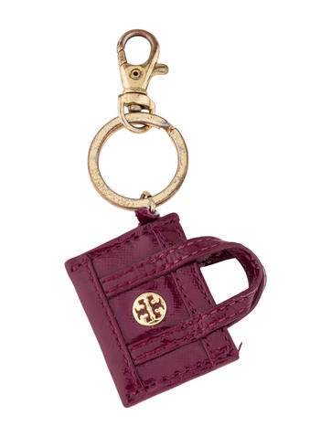 Tory Burch Leather Bag Charm None