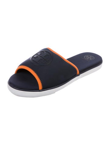 f6df7a0b003e58 Tory Burch Neoprene Logo Slide Sandals