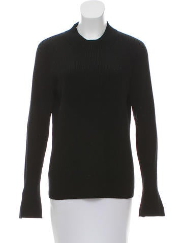 Tory Burch Wool Rib Knit Sweater None