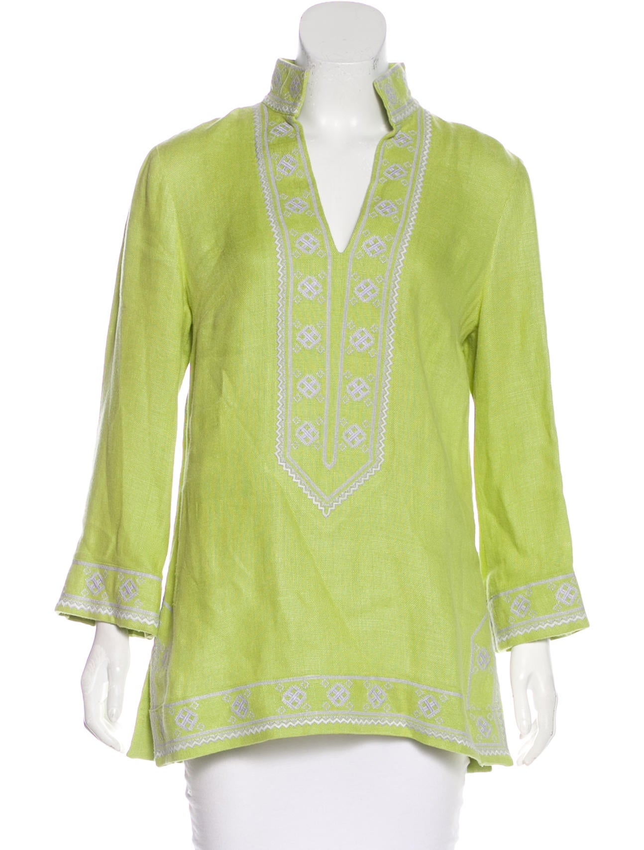 b93138ccb301c2 Tory Burch Embroidered Linen Tunic - Clothing - WTO127729