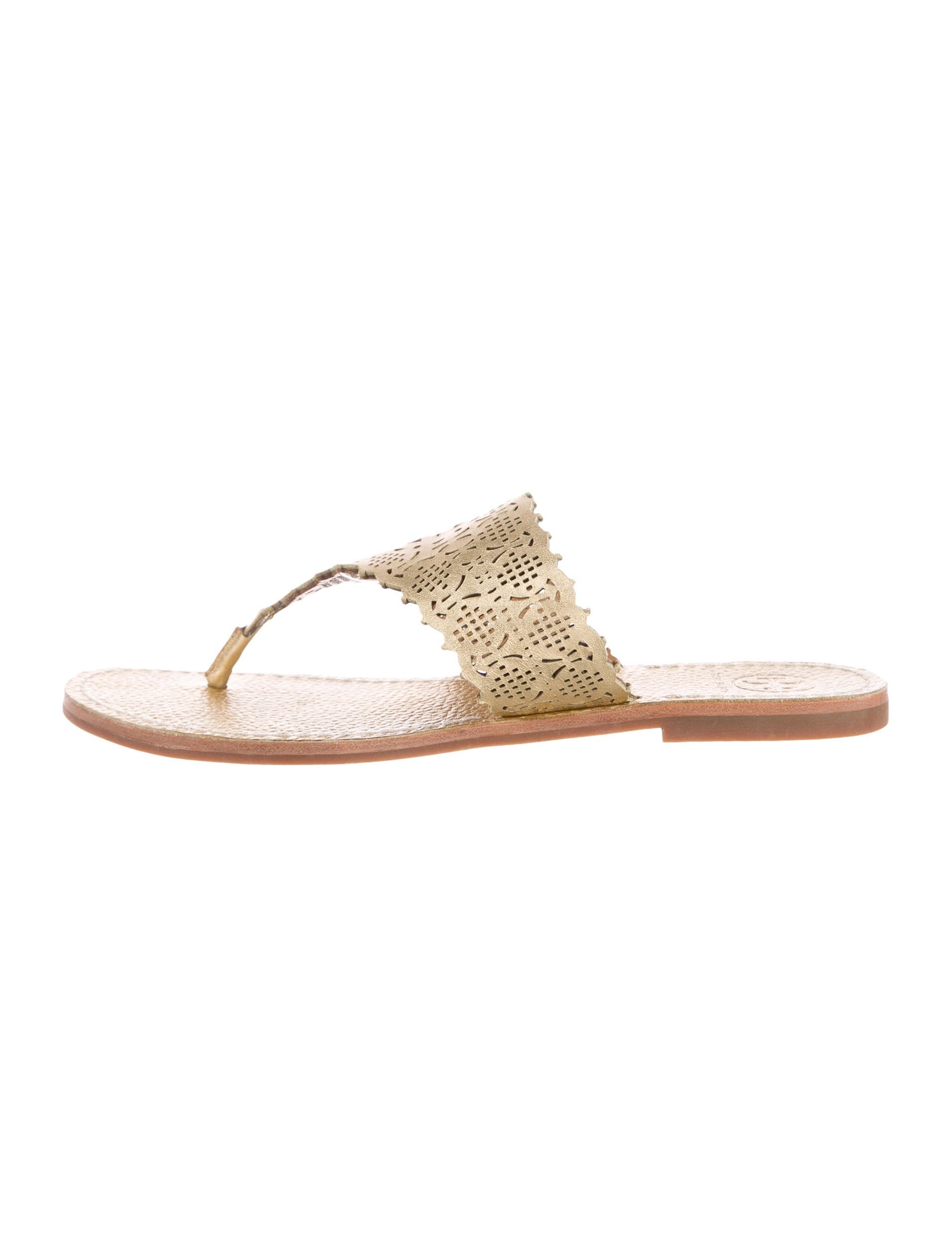 15668bc2fdc Tory Burch Roselle Laser Cut Thong Sandals - Shoes - WTO127908