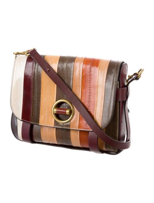 00388f3579c4 Tory Burch Alastair Small Striped Eel Skin Crossbody Bag - Handbags ...