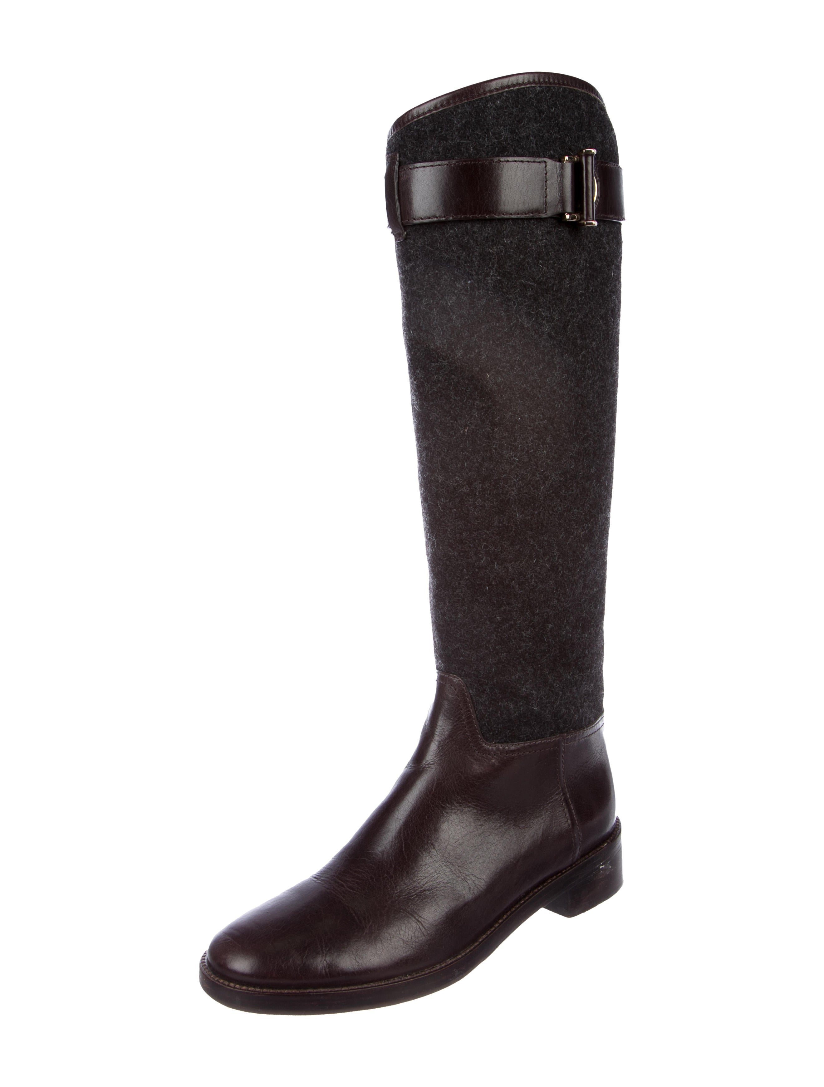 Tory Burch Felt Knee-High Boots 100% original cheap price footaction BI9rts6tH