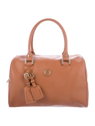 Tory Burch Grained Leather Handle Bag None