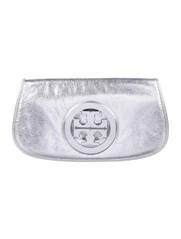 Tory Burch Metallic Leather Flap Bag None