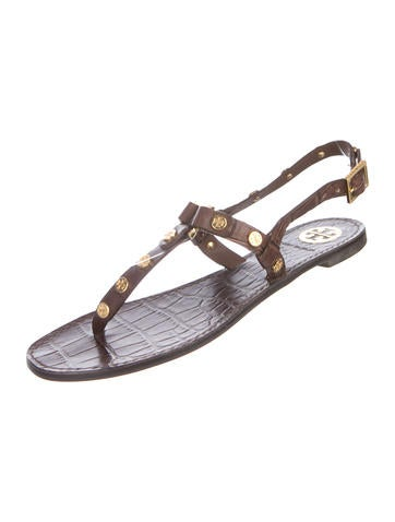 4e7cac65e2cb59 Tory Burch Marge Studded T-Strap Sandals - Shoes - WTO131149