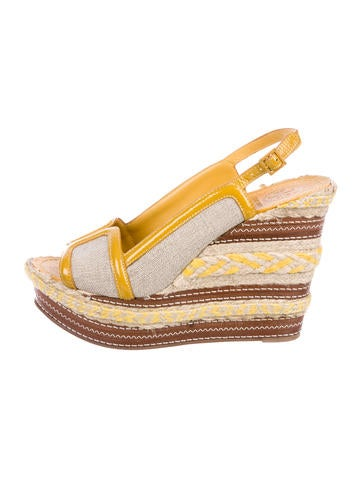 Tory Burch Espadrille Wedge Sandals None