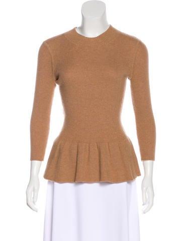 Tory Burch Long Sleeve Wool Top None