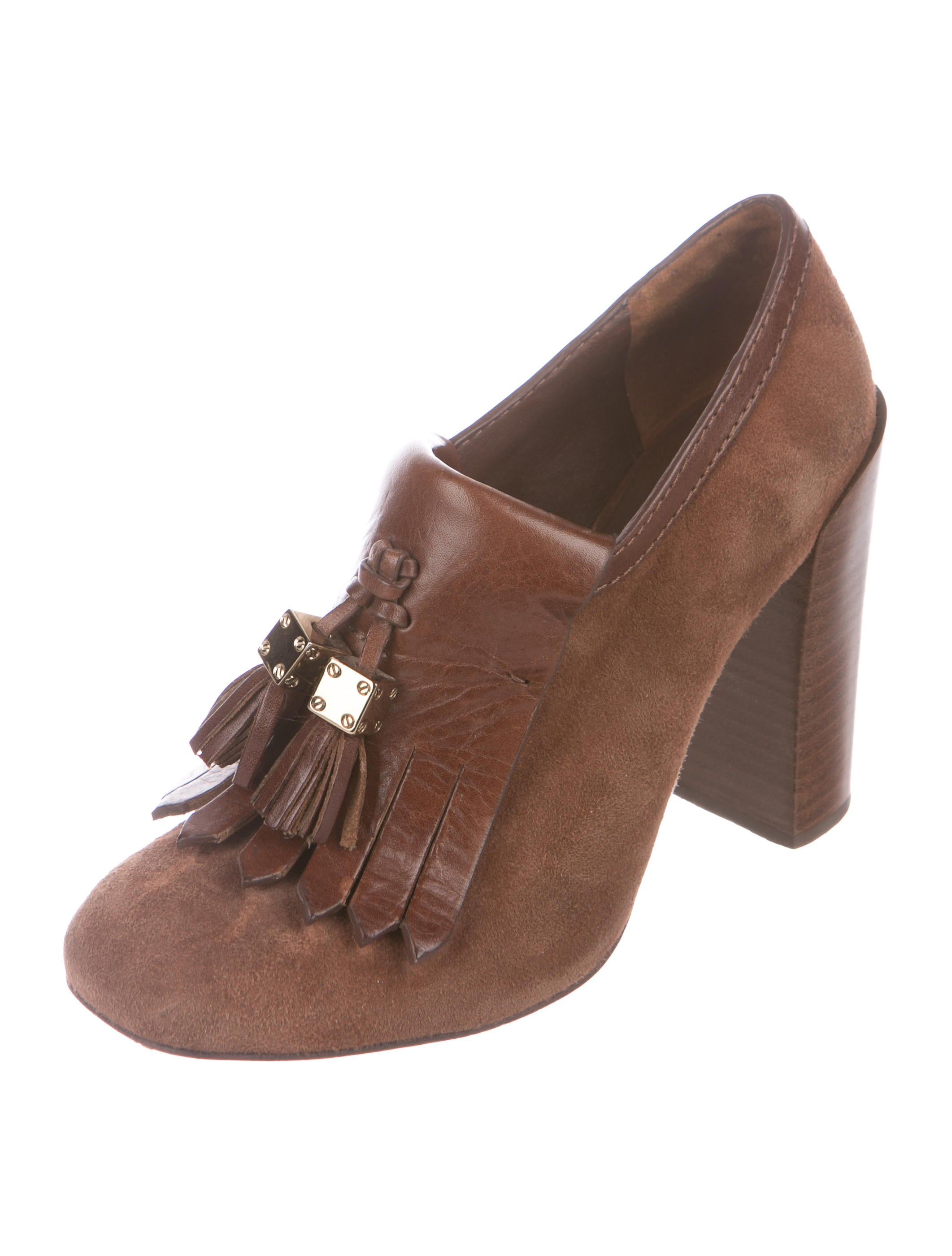 Tory Burch Square-Toe Kiltie Booties shipping discount authentic 100% guaranteed cheap online clearance professional EkCtg8ON7